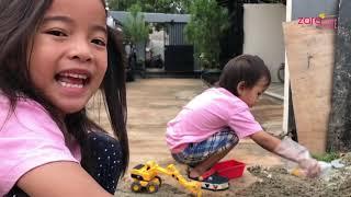 Toys Car For Kids | Escavator Dump Truck | Zara Kenzo bermain sambil belajar Alat Konstruksi