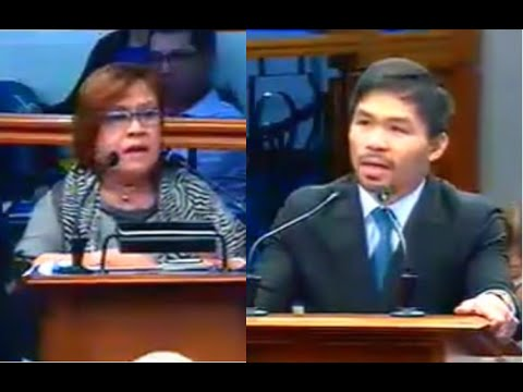 Leila De Lima Questioning Manny Pacquiao On Death Penalty
