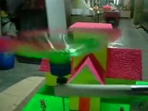 Wind powered garden spinkler -working science project  and simple innovation for common men