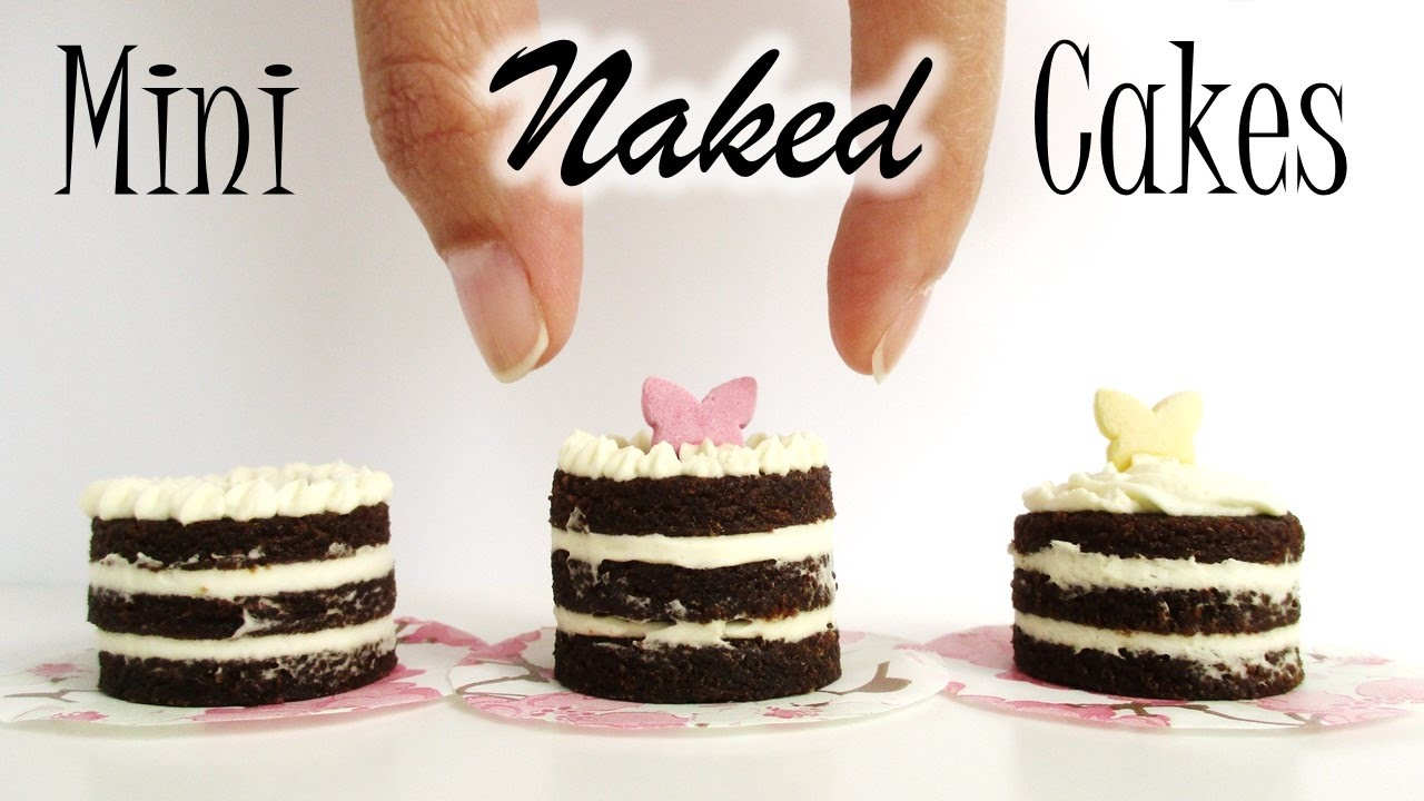 Edible Cake Images How To Make : How To Make Mini Naked Cakes, Edible Dolls-size Cake ...