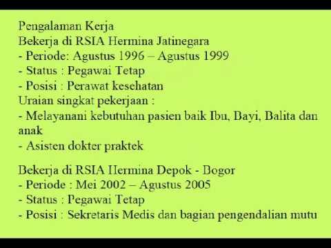 Contoh Curriculum Vitae Bahasa Indonesia Contoh Curriculum Vitae