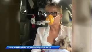 Avião de Xuxa é atingido por raio e faz pouso de emergência