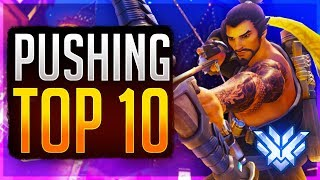 PUSHING FOR TOP 10 AS HANZO! Rank 1 Hanzo Overwatch Top 500  Gameplay (Samito)