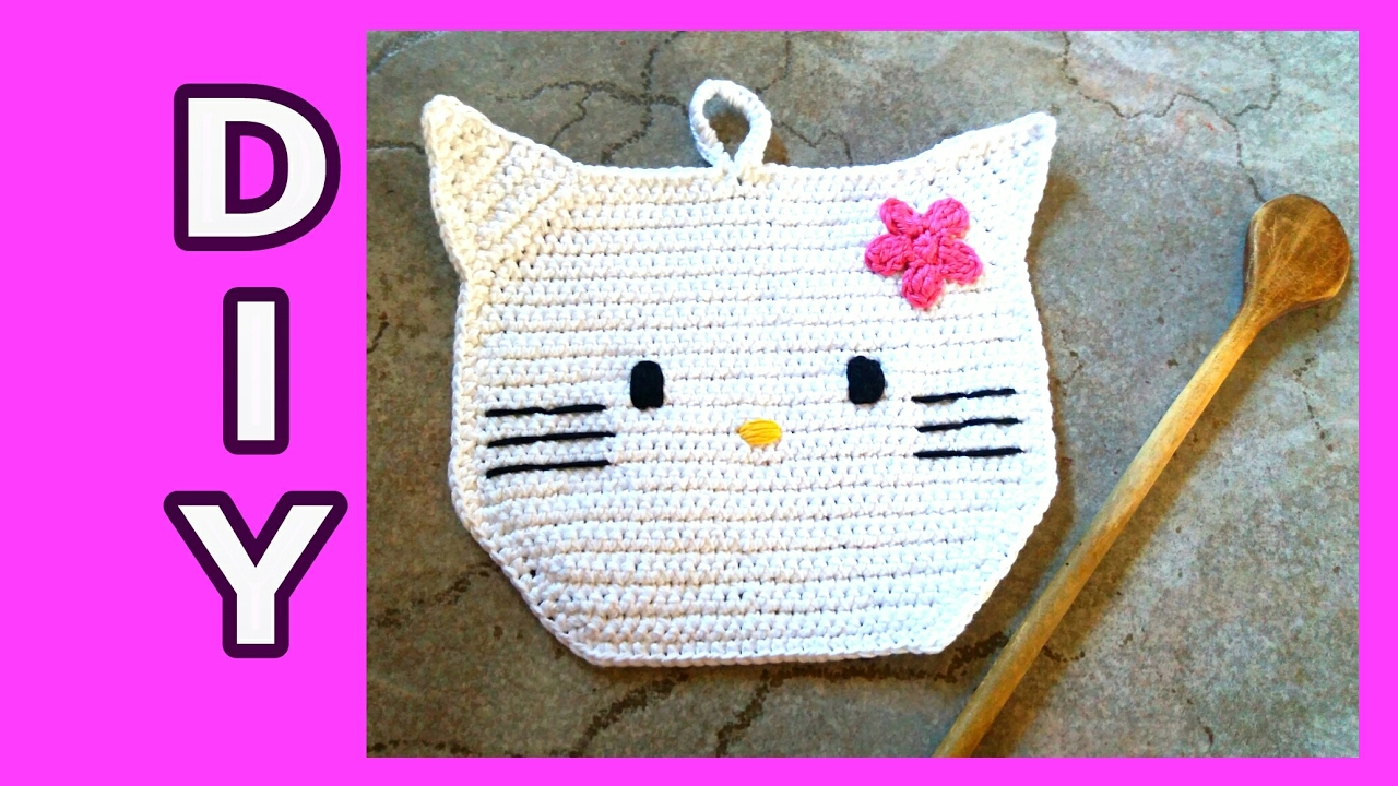 Hello Kitty Topflappen Häkeln Diy Julebuergerfee Youtube