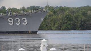 USS Barry Departs Navy Yard.