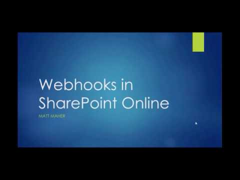 Webhooks in SharePoint Online