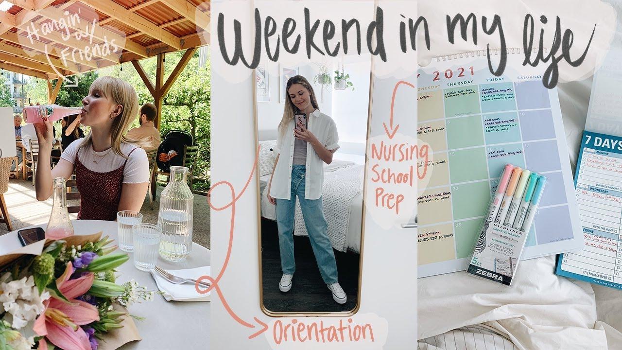Weekend in my Life | Nursing School Orientation + Prep, Blazer Game, & time with friends