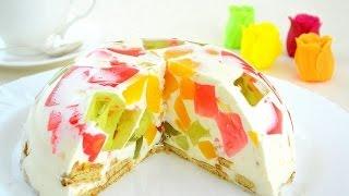 Торт Бите скло Десерт Легкі рецепти