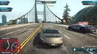 Need for Speed Most Wanted Mercedes SLS AMG VS Shelby COBRA 427 Gameplay 3 (PC)-1080p High Settings