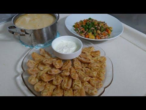 Akşam Yemeği Menüsü/Patatesli Hingel Mantısı/Barbunya Pilaki/Düğün Çorbası/Seval Mutfakta