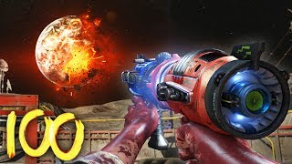 """MOON"" ROUND 100 ATTEMPT (Round 1-60 Speedrun) - BLACK OPS 3 ZOMBIES CHRONICLES GAMEPLAY"