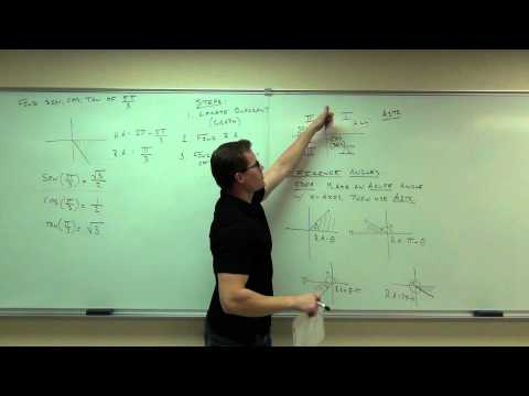 Calculus 1 Lecture 0.3:  Review of Trigonometry and Graphing Trigonometric Functions