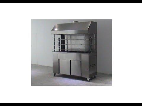 Επαγγελματική-Ψησταριά-καρβούνου-3-σουβλών.-commersial-rotisserie-charcoal-grill