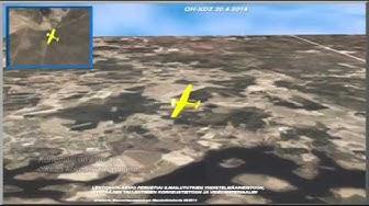 Animaatio Jämijärven lento-onnettomuuteen 20.4.2014 johtaneista vaiheista
