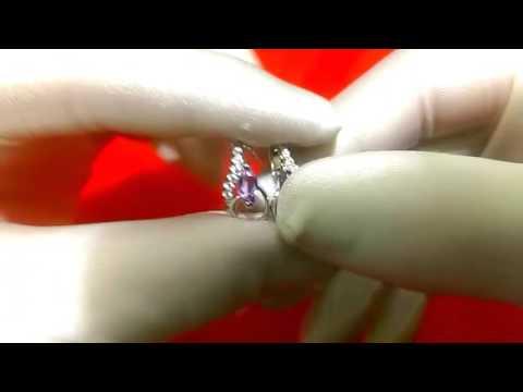 Серебряные серьги с натуральным аметистом и фианитами Sokolov 92021063