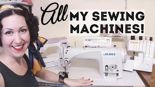 Meet ALL My Sewing Machines! Domestic, vintage and my new industrial!