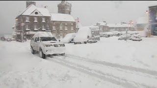 Обильный снегопад в Европе привел к хаосу