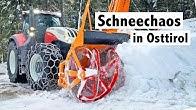 Schneechaos 2019 in Osttirol | Lohnunternehmen Gumpi Team mit Steyr Traktoren im Winterdienst