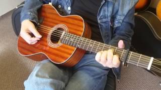 Zager Travel Size Acoustic Guitar walkaround