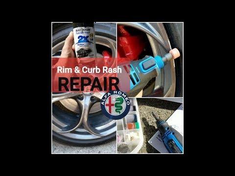 Curb Rash Repair on my Brand New Smoked Aluminum 19 inch Wheels