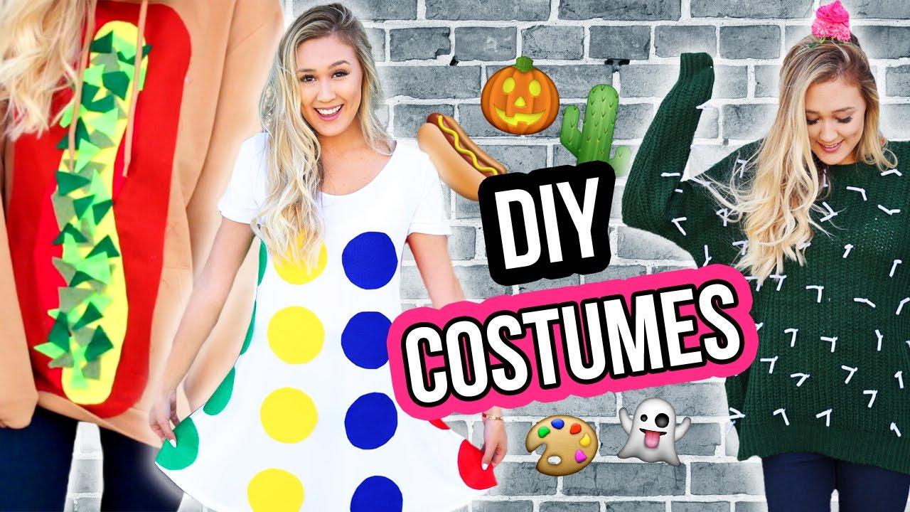 DIY HALLOWEEN COSTUME IDEAS FOR 2016 | LaurDIY - YouTube