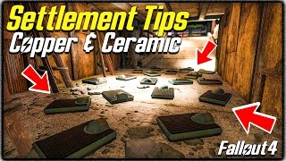 Fallout 4 Settlement Tips #5 - Copper & Ceramic, Where to Find Plenty + Where you can Buy!