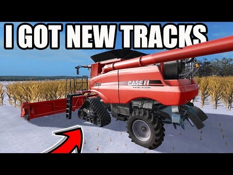 FARMING SIMULATOR 2017 | FINISHING CORN HARVEST IN A FOOT OF SNOW...WE NEEDED TRACKS | EP #15