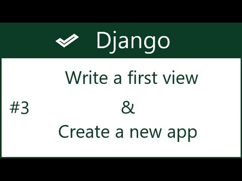 3 | How to create new app and write basic view in Django | by Hardik Patel