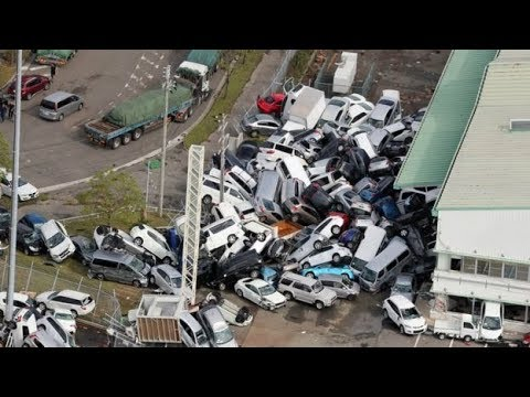 Typhoon Jebi Japan, Shikoku, Osaka, Kansai Airport, Kyoto, damage, surge, high waves, strong winds