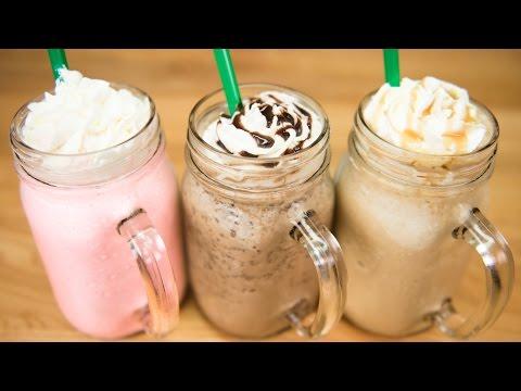 Make A Starbucks Frappuccino / Cotton Candy Frappuccino, Java Chip Frappuccino & Caramel Frappuccino