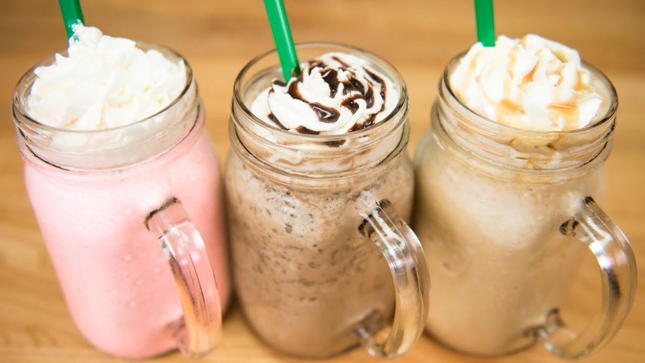 Make A Starbucks Frappuccino Cotton Candy Frappuccino Java Chip Frappuccino Caramel Frappuccino Youtube