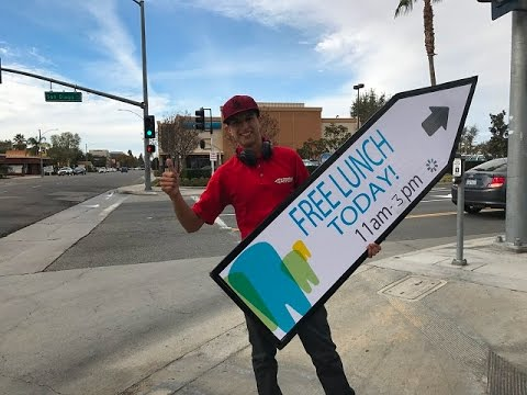 Sign Spinner Aces It in Riverside, CA!  (1-7-17)