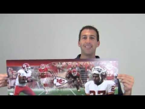 Larry Johnson Signed Kansas City Chiefs Photo - 10x30 JSA