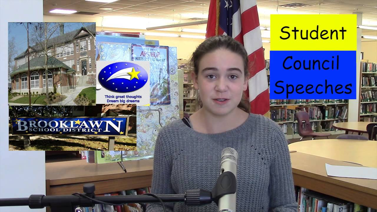 Student Council Speeches - YouTube