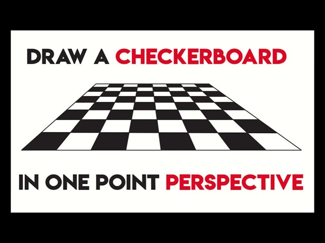 How To Draw A Checkerboard In One Point Perspective Easy Step By Step Drawing For Beginners How To Draw Step By Step Drawing Tutorials