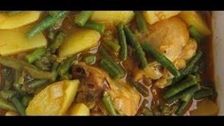 """surinamese Long Yard Green Beans With Potatoes Recipe"" ""vegetarian Recipes"" ""suriname Food"""