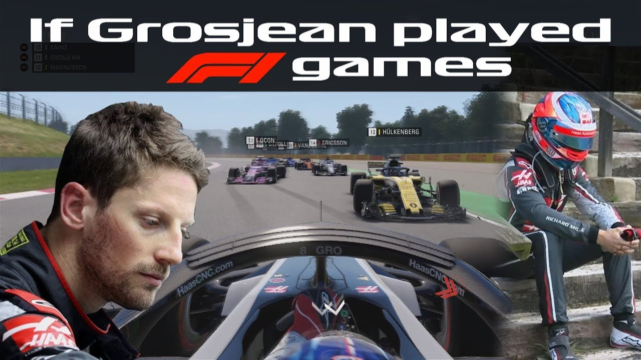 If Grosjean played F1 games