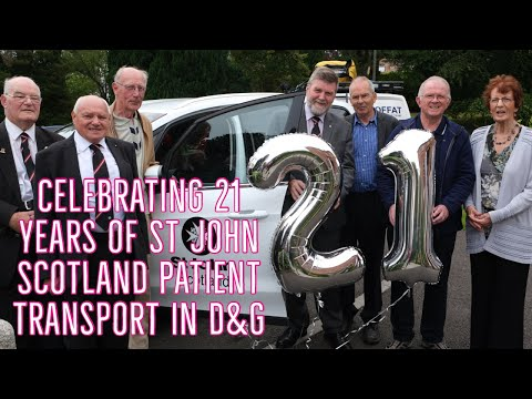 21st anniversary, St John Scotland Patient Transport in Dumfries and Galloway