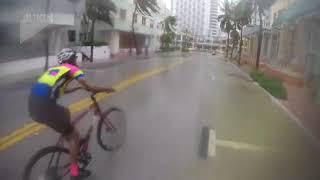 Biking through the hurricane