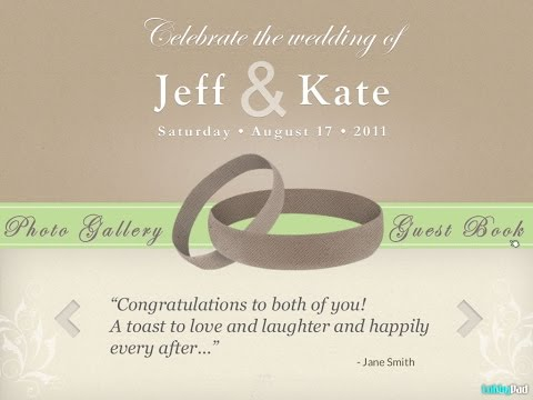 Wedding Tribute, GuestBook, Photo Gallery, Seating Plan Touch Screen Kiosk IPad Apps