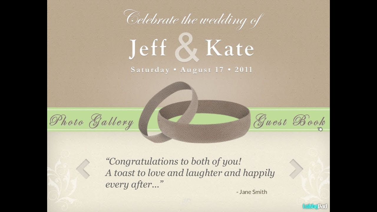 wedding tribute guestbook photo gallery seating plan touch screen