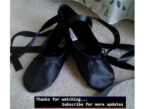 Black Ballet Shoes With Ribbon - Set Of Ballet Costume Pic Collection Romance
