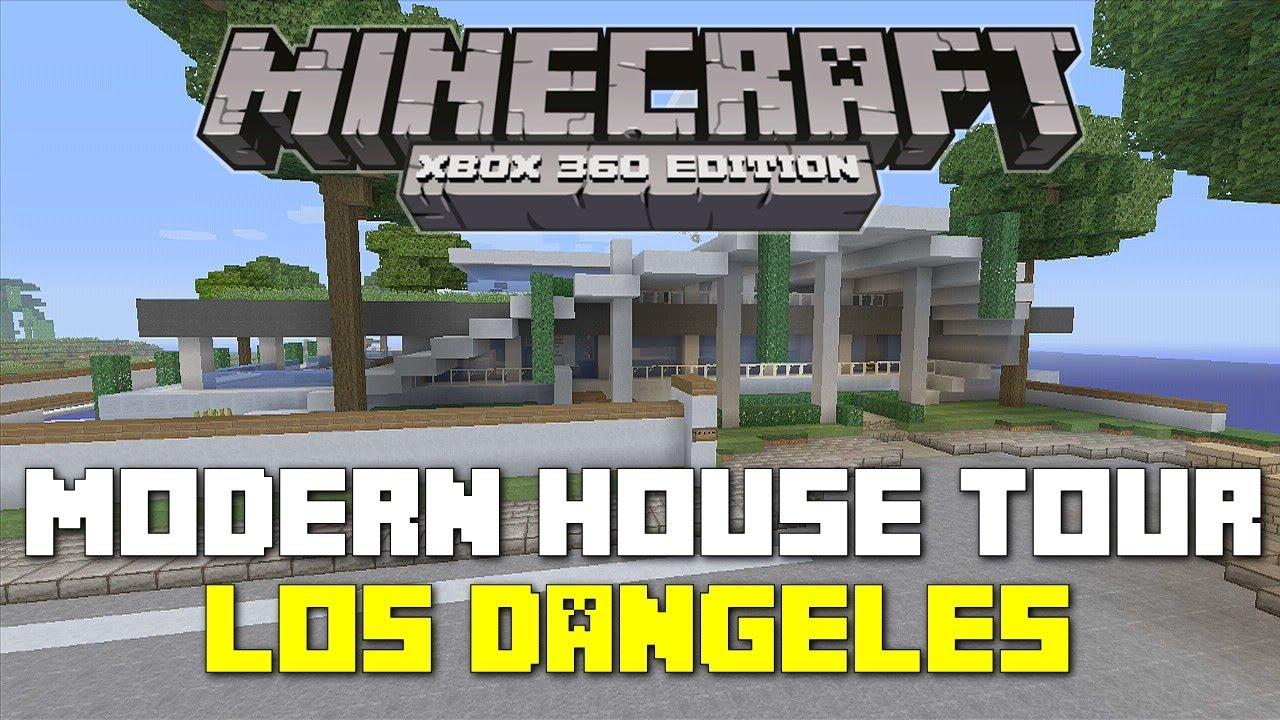 Minecraft xbox 360 seaside modern house house tours of for Tuto maison moderne minecraft xbox 360