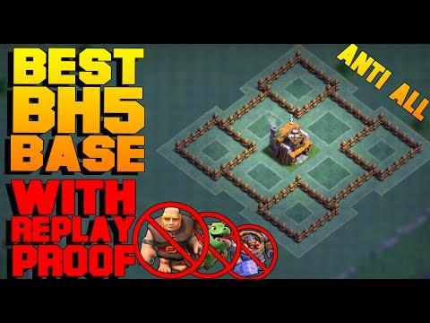 "BH5 ""NEW"" Base ""Anti-Giant"" ""Anti-Dragon""Base (BH5) base W/Replays   CoC Builder hall 5 base"