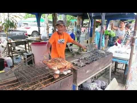 Thai Fish Markets – Cooking Fresh Seafood – Bangkok Street Food