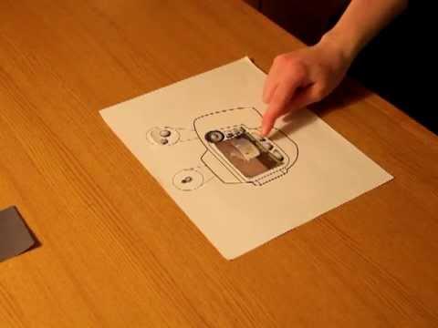 Papercraft Paper Model Camera Interface