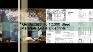 Potting Shed, Utility Shed & Firewood Shed Plans