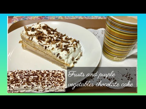 IHOW TO MAKE FRUITS AND PURPLE VEGETABLES CHOCOLATE CAKE