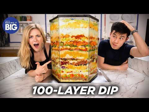 we-made-a-100-layer-dip-•-tasty