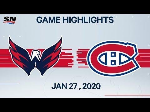 NHL Highlights | Capitals Vs. Canadiens – Jan. 27, 2020
